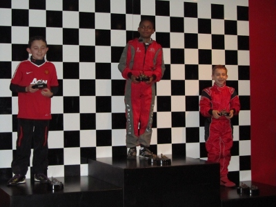 Ewan on his first ever podium!